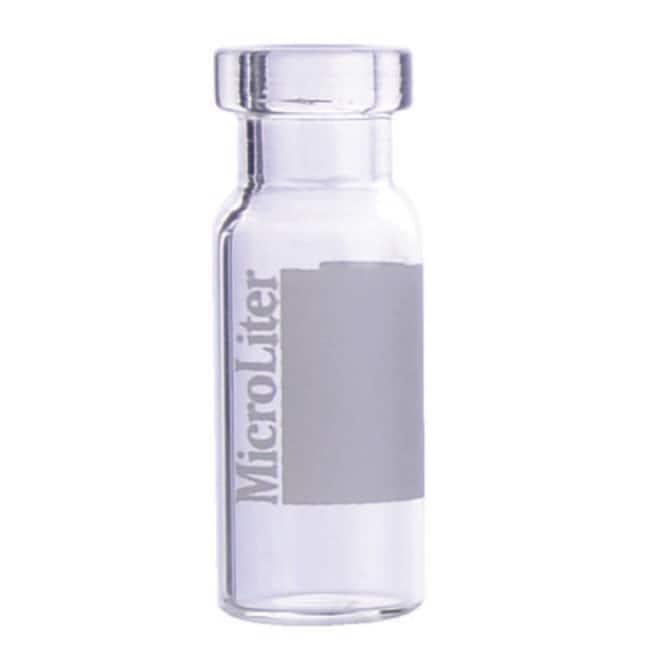 DWK Life Sciences MicroLiter 11mm Crimp Top Autosampler Vials 2mL, Clear,