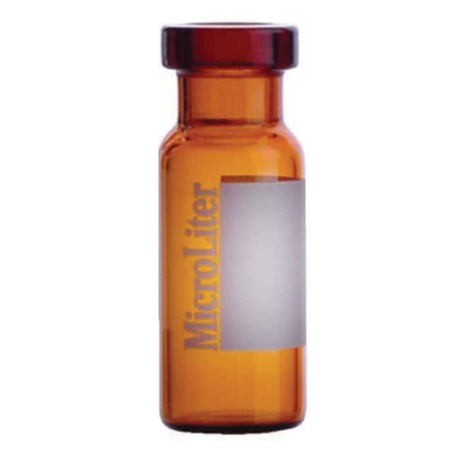 DWK Life Sciences MicroLiter 11mm Crimp Top Autosampler Vials 2mL, Amber,