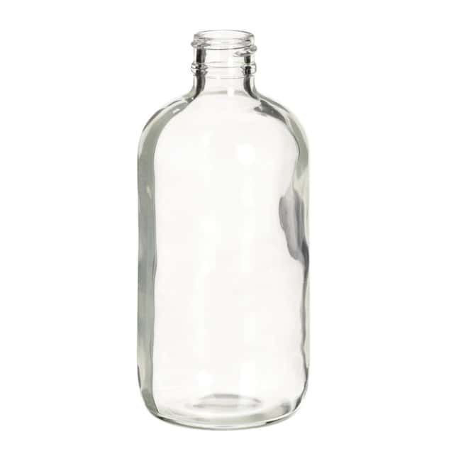 Fisherbrand  Safety Coated Clear Boston Round Glass Bottles without Caps