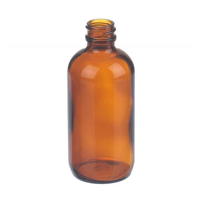 Fisherbrand  Amber Boston Round Glass Bottles without Caps