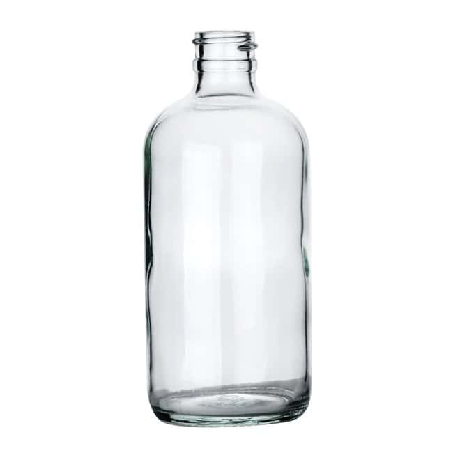 Fisherbrand  Clear Boston Round Glass Bottles without Caps