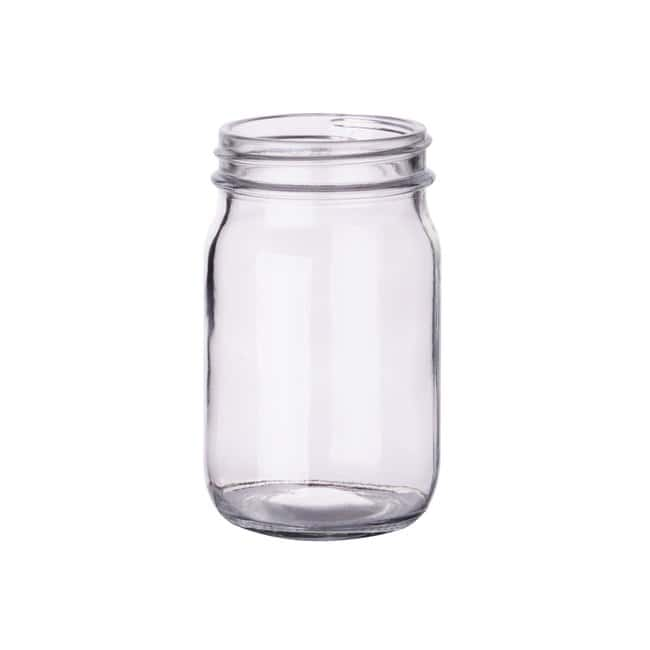 Fisherbrand  Clear Standard Wide Mouth Glass Bottles without Caps