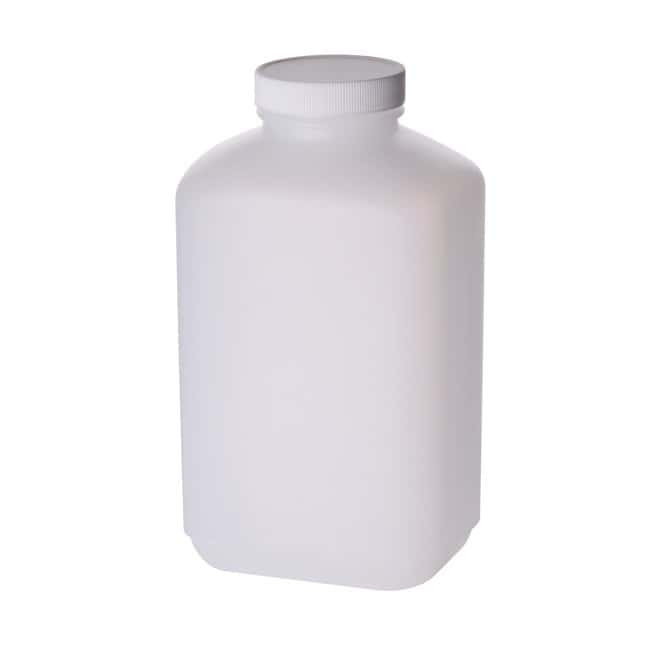 Fisherbrand  HDPE Oblong Bottles with Polypropylene Caps