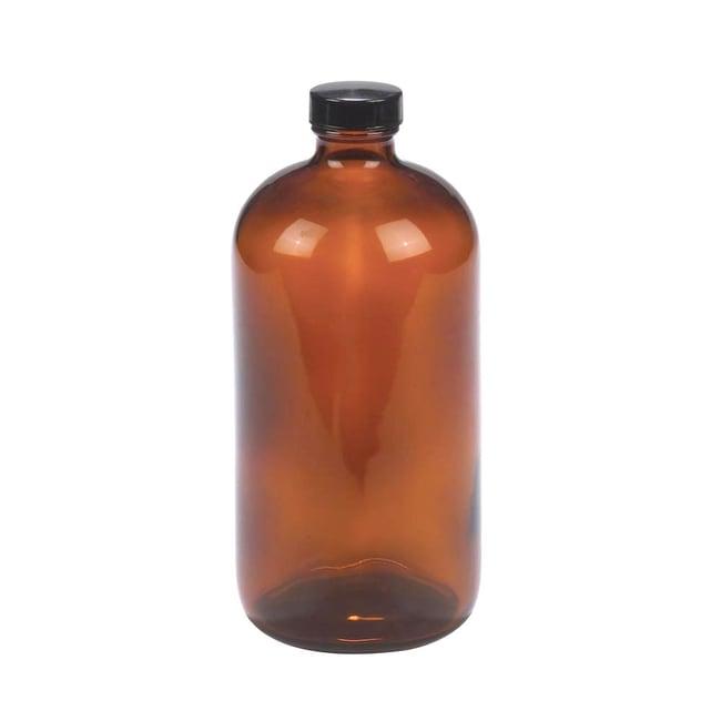 Fisherbrand™ Safety Coated Amber Boston Round Glass Bottles with Black  Phenolic Caps 8oz Fisherbrand™ Safety Coated Amber Boston Round Glass  Bottles with Black Phenolic Caps   Fisher Scientific