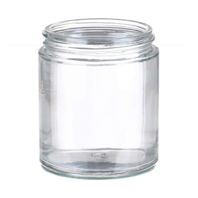 Fisherbrand  Clear Straight Sided Glass Jars without Caps