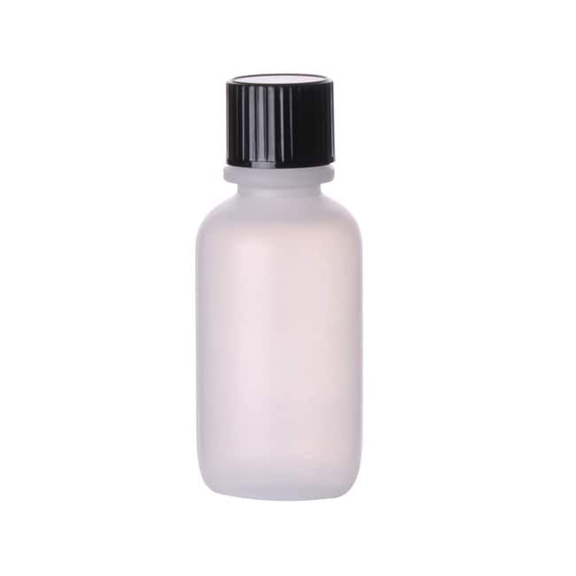 Fisherbrand  Natural LDPE Boston Round Bottles with Black Phenolic Caps