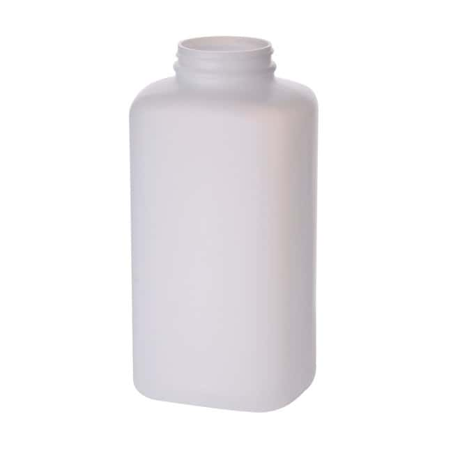 Fisherbrand  Natural HDPE Wide Mouth Oblong Bottles without Caps