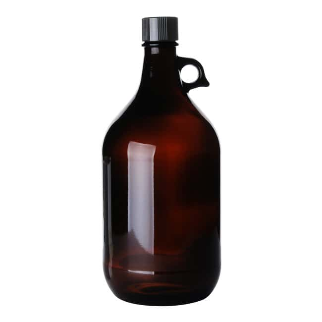 Fisherbrand  Amber Round Narrow Mouth Glass Jug with Cap