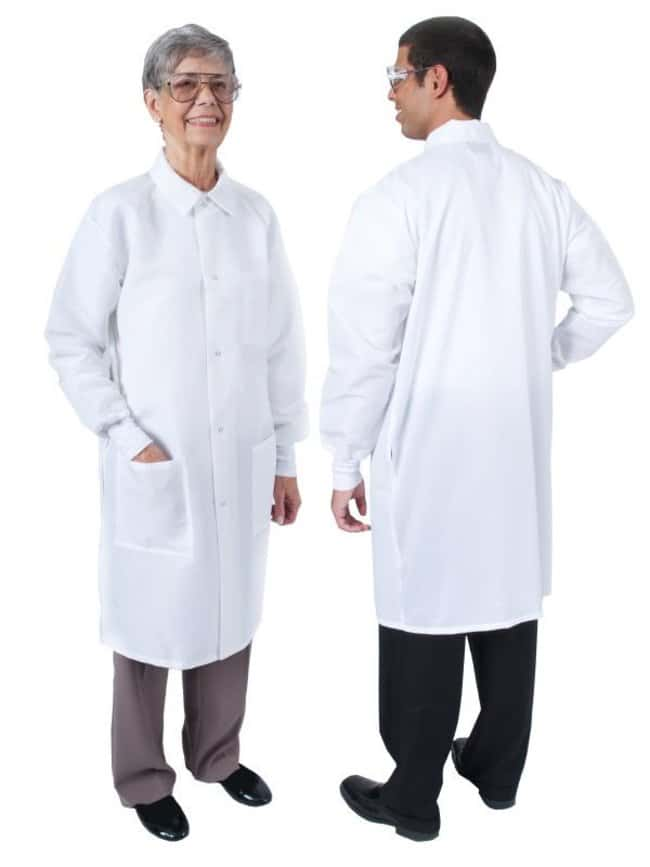 DenLineProtection Plus+ II Unisex Long-Length Lab Coats, Color: White:Personal