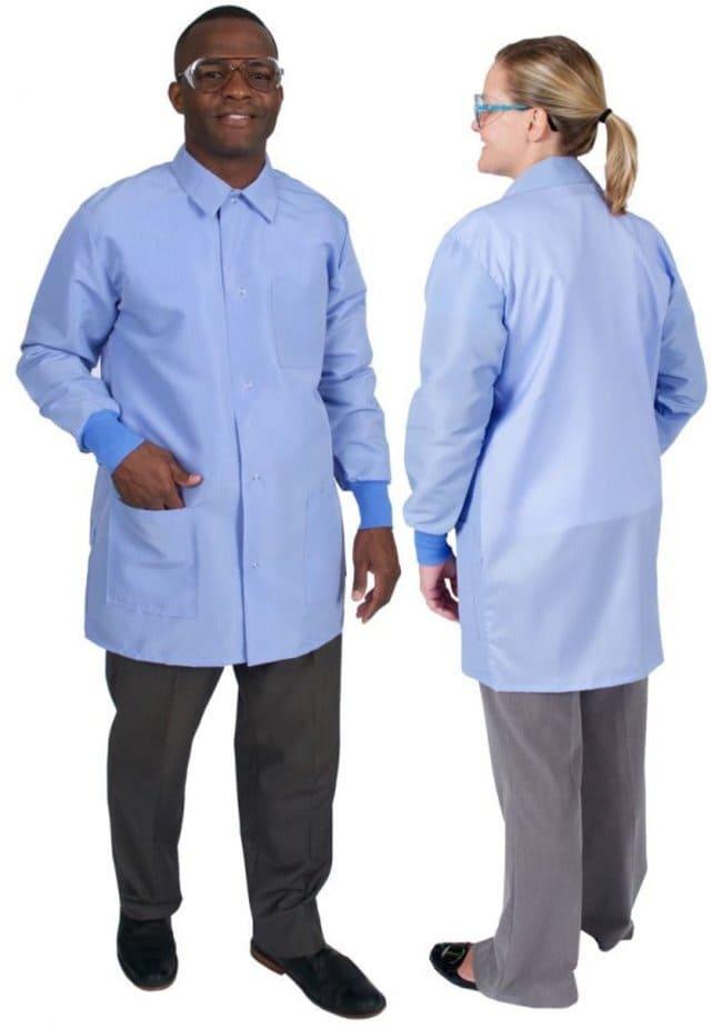 DenLine Protection Plus+ II Unisex Long-Length Lab Coats, Color: Royal:Gloves,