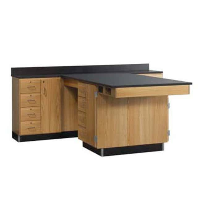 Diversified Woodcrafts Perimeter Workstations with Flat Top   Solid epoxy