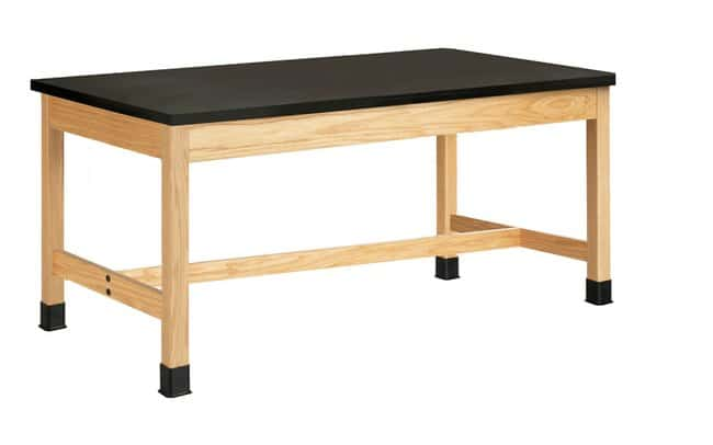 Diversified Woodcrafts Oak Table with  Plain Apron and Solid Epoxy Top: