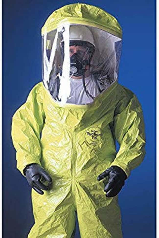 DuPont Tychem 10,000 Level A Suits Rear entry; Lime Yellow; Butyl gloves;