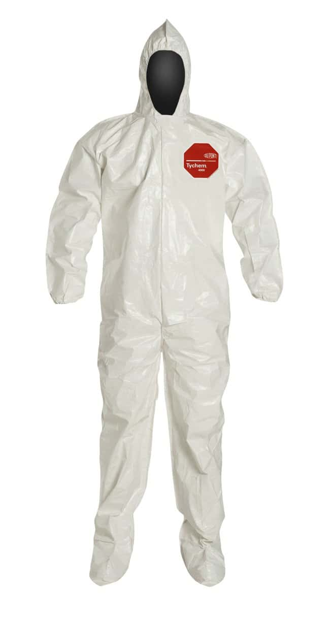 DuPont Tychem 4000 Series 122 Coveralls Bound Seam; Standard; X-Large:Gloves,