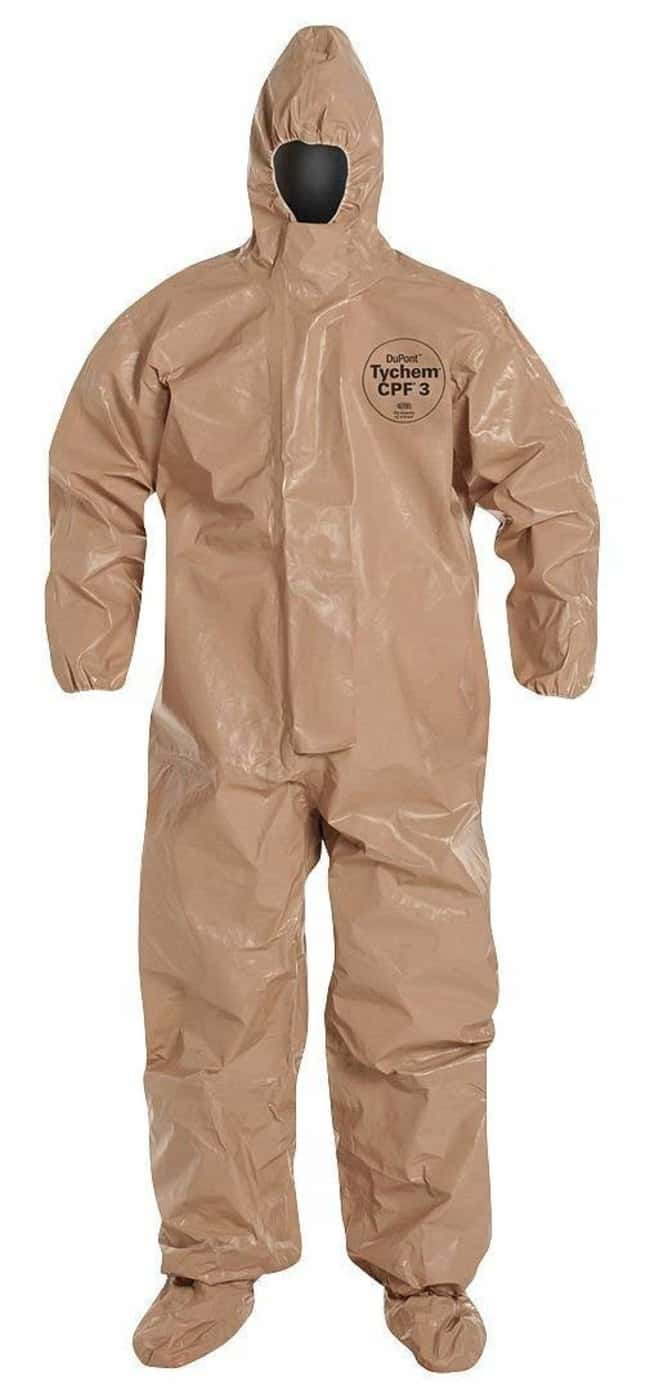 DuPont Tychem CPF 3 128 Series Coverall Coverall; 5XL:Gloves, Glasses and