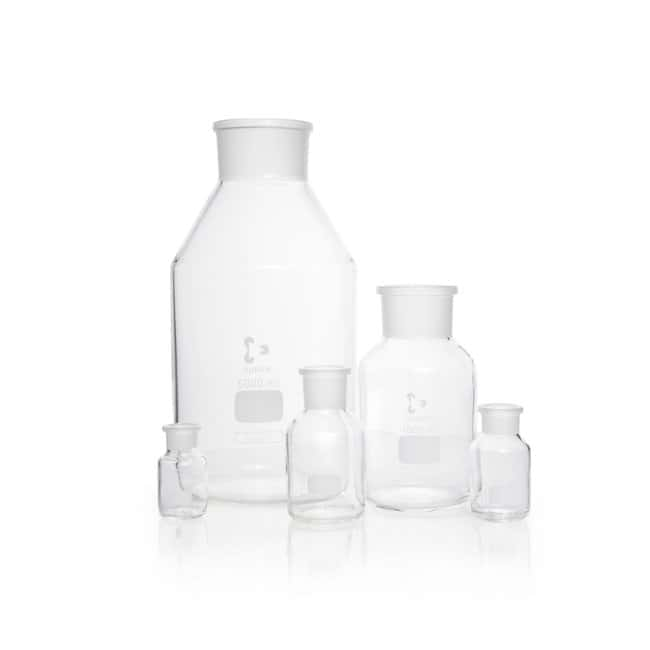 DWK Life Sciences DURAN™ Reagent Bottle, Wide Neck, Clear, Without Stopper ST 24/20, 50 mL DWK Life Sciences DURAN™ Reagent Bottle, Wide Neck, Clear, Without Stopper