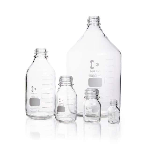 DWK Life SciencesDURAN™ Original Laboratory Bottle, Clear, with DIN 168-1 Thread, Graduated, Bottle Only 10000 mL DWK Life SciencesDURAN™ Original Laboratory Bottle, Clear, with DIN 168-1 Thread, Graduated, Bottle Only