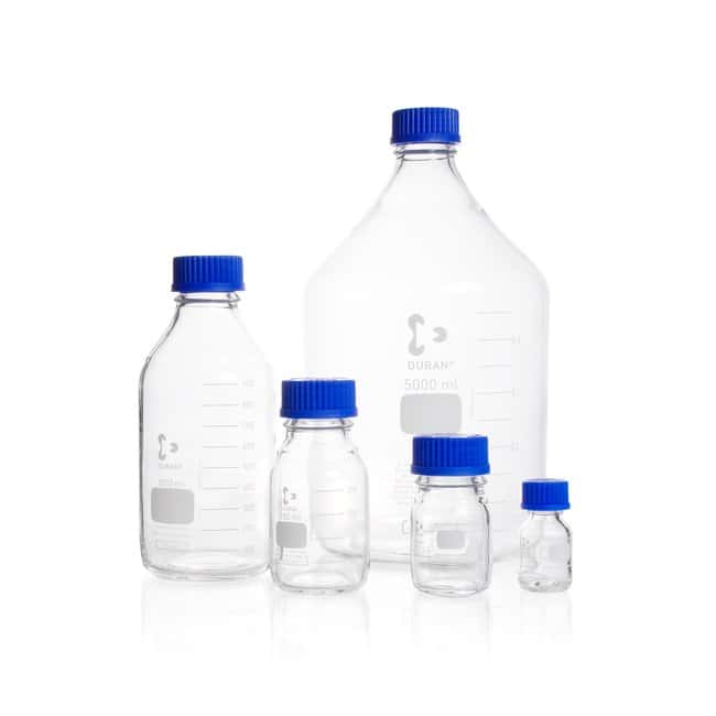 DWK Life Sciences DURAN™ Original Laboratory Bottle, Clear, with DIN 168-1 Thread, Graduated 5000 mL DWK Life Sciences DURAN™ Original Laboratory Bottle, Clear, with DIN 168-1 Thread, Graduated