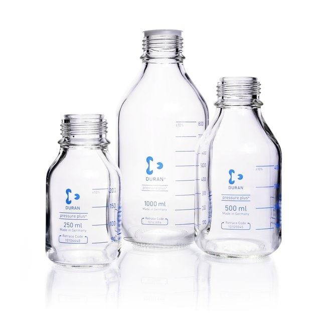 DWK Life SciencesDURAN™ Laboratory Bottle, pressure plus+, Clear, with DIN 168-1 Thread, GL 45, Graduated 1000 mL DWK Life SciencesDURAN™ Laboratory Bottle, pressure plus+, Clear, with DIN 168-1 Thread, GL 45, Graduated