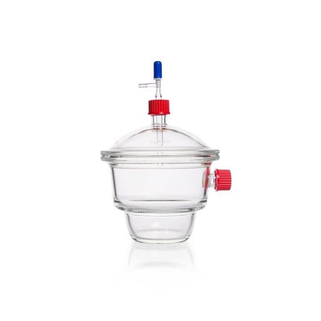 DWK Life SciencesDURAN™ Vakuum-Exsikkator-Set, mit Gewindeanschluss, Typ MOBILEX (GL 32), Hahn mit PTFE-Spindel Without porcelain plate, DN 200 DWK Life SciencesDURAN™ Vakuum-Exsikkator-Set, mit Gewindeanschluss, Typ MOBILEX (GL 32), Hahn mit PTFE-Spindel