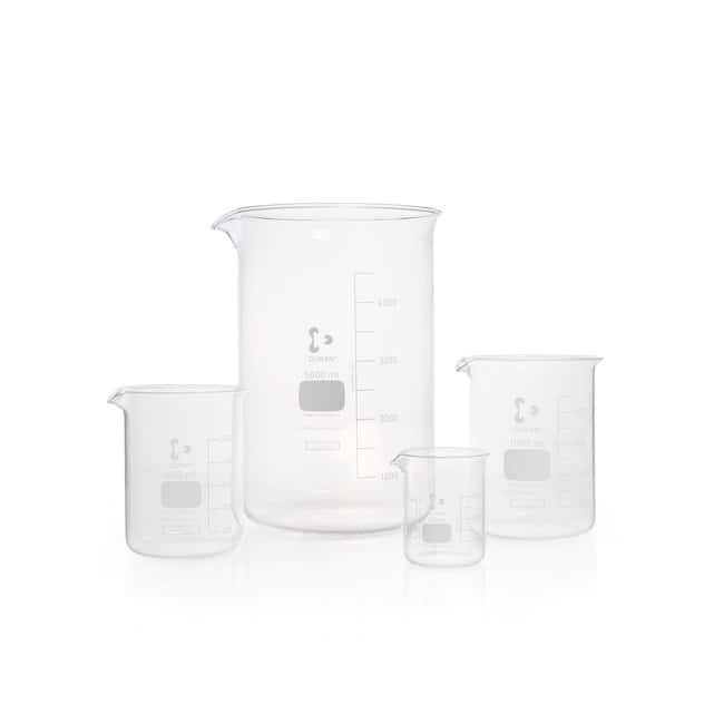 DWK Life Sciences Beaker, Low Form, With Spout 2000 mL DWK Life Sciences Beaker, Low Form, With Spout