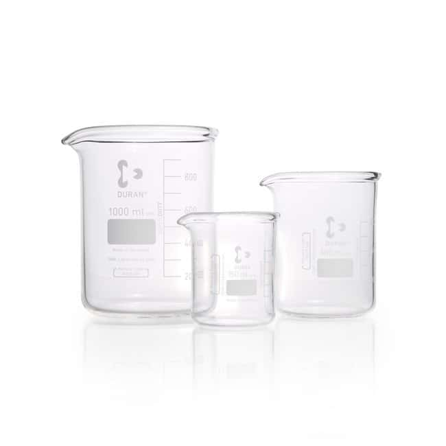 DWK Life Sciences SUPER DUTY Beaker, Low Form, With Spout, With Reinforced Rim 2000 mL DWK Life Sciences SUPER DUTY Beaker, Low Form, With Spout, With Reinforced Rim