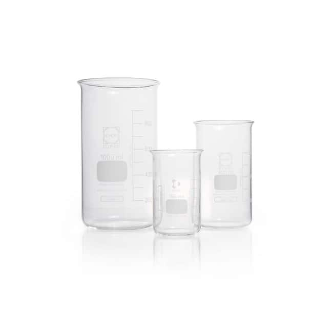 DWK Life Sciences Beaker, High Form, Without Spout Without spout, 50 mL DWK Life Sciences Beaker, High Form, Without Spout