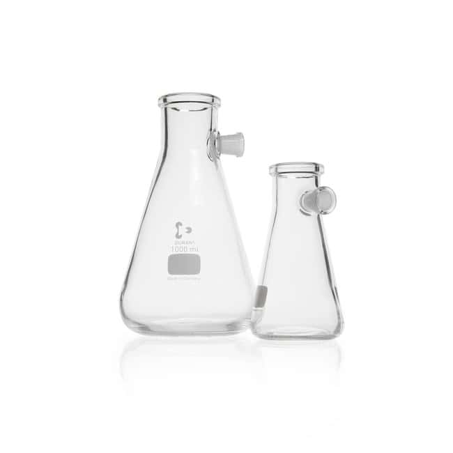 DWK Life Sciences DURAN™ Filtering Flask, with Side-Arm Socket, Erlenmeyer shape 1000 mL DWK Life Sciences DURAN™ Filtering Flask, with Side-Arm Socket, Erlenmeyer shape