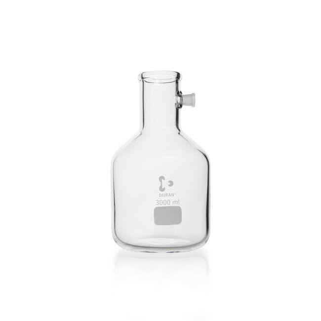 DWK Life Sciences DURAN™ Filtering Flask, with Side-Arm Socket, bottle shape 20000 mL DWK Life Sciences DURAN™ Filtering Flask, with Side-Arm Socket, bottle shape