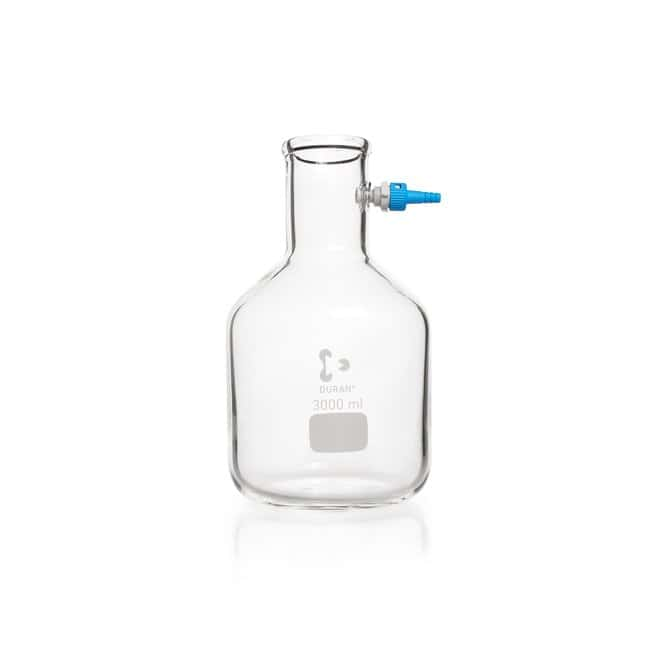 DWK Life Sciences DURAN™ Filtering Flask, with KECK™ Assembly Set, bottle shape 15000 mL, 500 mm Height DWK Life Sciences DURAN™ Filtering Flask, with KECK™ Assembly Set, bottle shape