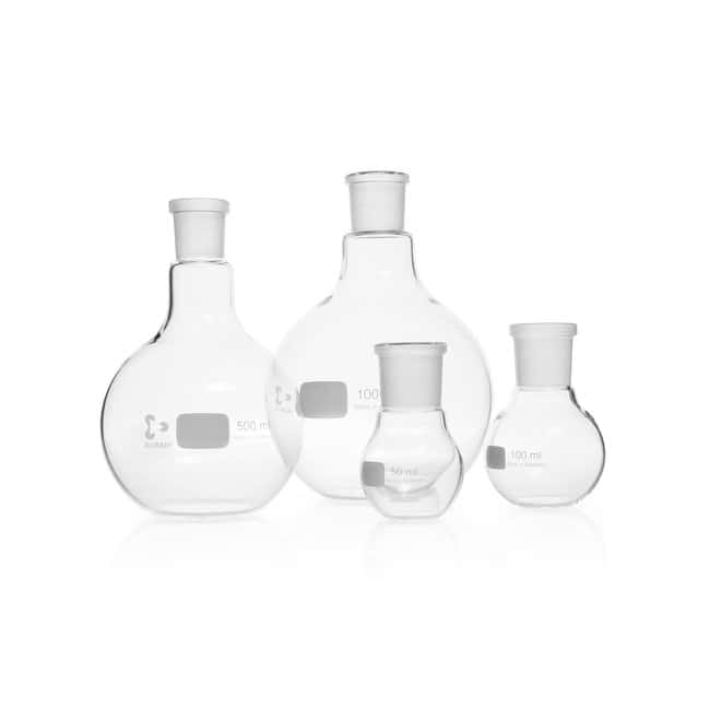 DWK Life Sciences DURAN™ Flat Bottom Flask, with standard ground joint NS 29/32, 2000 mL DWK Life Sciences DURAN™ Flat Bottom Flask, with standard ground joint