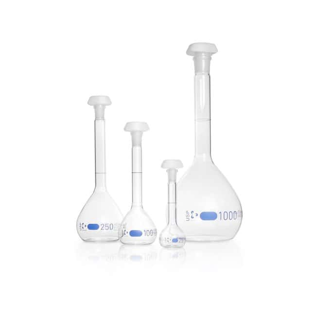DWK Life Sciences DURAN™ Volumetric Flask, Class A, USP conformity 31, USP individual certificate 500 mL DWK Life Sciences DURAN™ Volumetric Flask, Class A, USP conformity 31, USP individual certificate