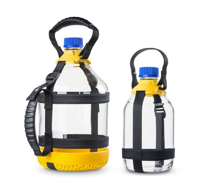 DWK Life SciencesDURAN™ GL 45 Bottle Carrying System for the 2 liter DURAN™ Bottle Yellow DWK Life SciencesDURAN™ GL 45 Bottle Carrying System for the 2 liter DURAN™ Bottle