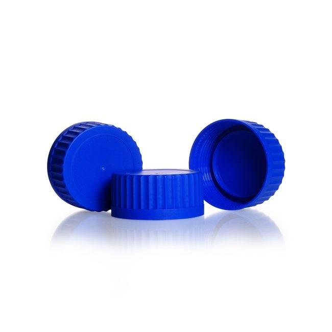 DWK Life SciencesDURAN™ GLS 80™ Schnellschraubverschluss, aus PP, Blau, mit Lippendichtung, mit Schraubkappe Blue Verschlusskappen