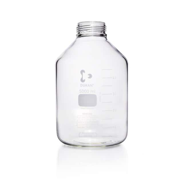 DWK Life SciencesDURAN™ GLS 80™ Laboratory Bottle, Wide Mouth, Clear, GLS 80™ Thread, Graduated, Bottle Only 5000 mL DWK Life SciencesDURAN™ GLS 80™ Laboratory Bottle, Wide Mouth, Clear, GLS 80™ Thread, Graduated, Bottle Only