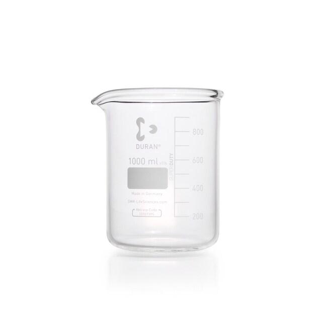 DWK Life SciencesSUPER DUTY Beaker, Low Form, With Spout, With Reinforced Rim 1000 mL DWK Life SciencesSUPER DUTY Beaker, Low Form, With Spout, With Reinforced Rim