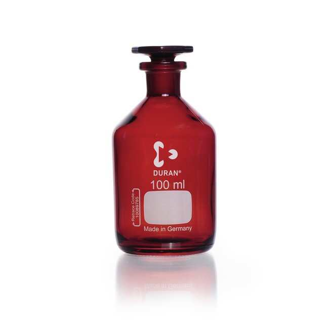DWK Life SciencesDURAN™ Reagent Bottle, Narrow Neck, Amber, USP /EP (3.2.1) Light Transmission: Bottles Bottles, Jars and Jugs