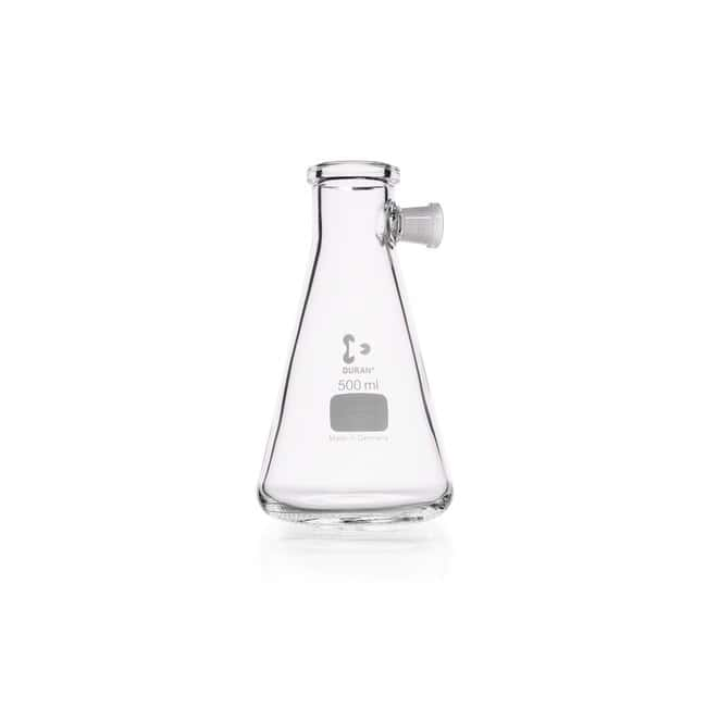 DWK Life SciencesDURAN™ Filtering Flask, with Side-Arm Socket, Erlenmeyer shape 500 mL DWK Life SciencesDURAN™ Filtering Flask, with Side-Arm Socket, Erlenmeyer shape