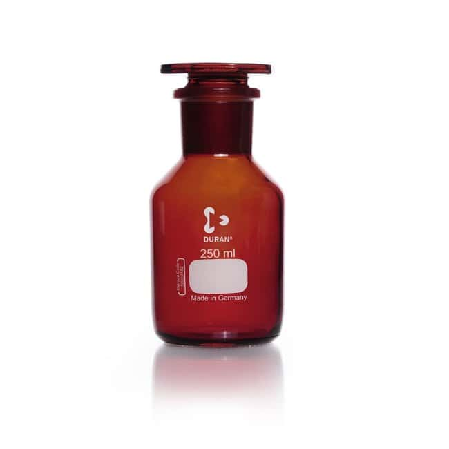 DWK Life Sciences DURAN™ Reagent Bottle, Wide Neck, Amber, USP /EP (3.2.1) Light Transmission: Bottles Bottles, Jars and Jugs