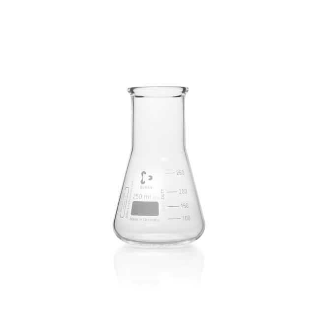 DWK Life Sciences DURAN™ SUPER DUTY Erlenmeyer Flask, wide neck, with reinforced rim 250 mL DWK Life Sciences DURAN™ SUPER DUTY Erlenmeyer Flask, wide neck, with reinforced rim