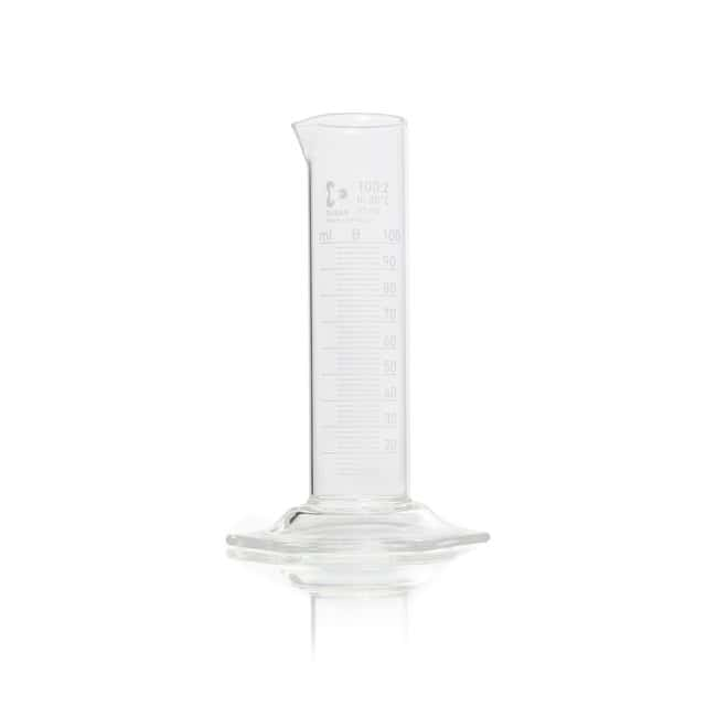 DWK Life SciencesDURAN™ Measuring Cylinder, with Hexagonal Base, Class B, low form, white scale, with graduation 100 mL DWK Life SciencesDURAN™ Measuring Cylinder, with Hexagonal Base, Class B, low form, white scale, with graduation