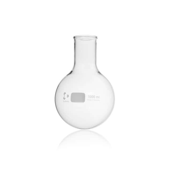 DWK Life Sciences DURAN™ Round Bottom Flask, wide neck, with beaded rim 1000 mL DWK Life Sciences DURAN™ Round Bottom Flask, wide neck, with beaded rim