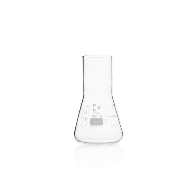 DWK Life Sciences DURAN™ Culture Flask, Erlenmeyer shape, straight neck for metal caps 100 mL DWK Life Sciences DURAN™ Culture Flask, Erlenmeyer shape, straight neck for metal caps
