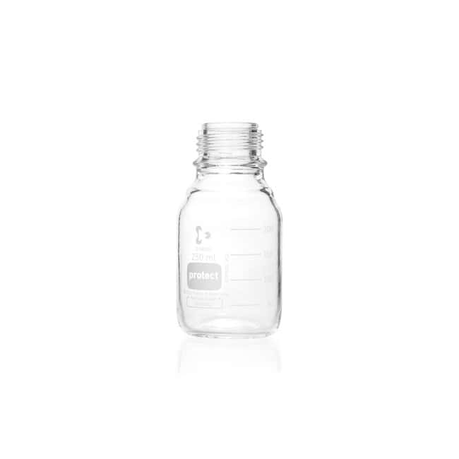 DWK Life SciencesDURAN™ Protect Laboratory Bottle, Protect coated, Clear, With DIN Thread, Plastic Safetry Coated, Graduated, Bottle Only 250 mL DWK Life SciencesDURAN™ Protect Laboratory Bottle, Protect coated, Clear, With DIN Thread, Plastic Safetry Coated, Graduated, Bottle Only