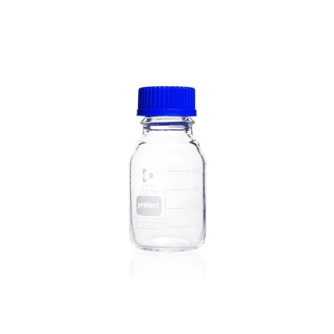 DWK Life SciencesDURAN™ Protect Laborflasche, Klarglas, mit DIN 168-1 Gewinde, kunststoffummantelt, graduiert 250 mL DWK Life SciencesDURAN™ Protect Laborflasche, Klarglas, mit DIN 168-1 Gewinde, kunststoffummantelt, graduiert