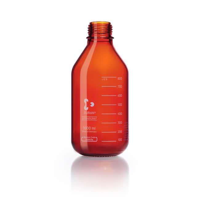 DWK Life Sciences DURAN™ Laboratory Bottle, pressure plus+, Clear, with DIN 168-1 Thread, GL 45, USP /EP (3.2.1) Light Transmission 1000 mL DWK Life Sciences DURAN™ Laboratory Bottle, pressure plus+, Clear, with DIN 168-1 Thread, GL 45, USP /EP (3.2.1) Light Transmission