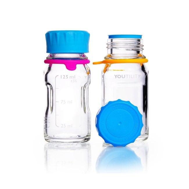 DWK Life SciencesDURAN™ YOUTILITY™ Laborflasche, mit DIN 168-1 Gewinde, graduiert, mit Schraubkappe: Glasflaschen Flaschen, Gefäße und Kannen