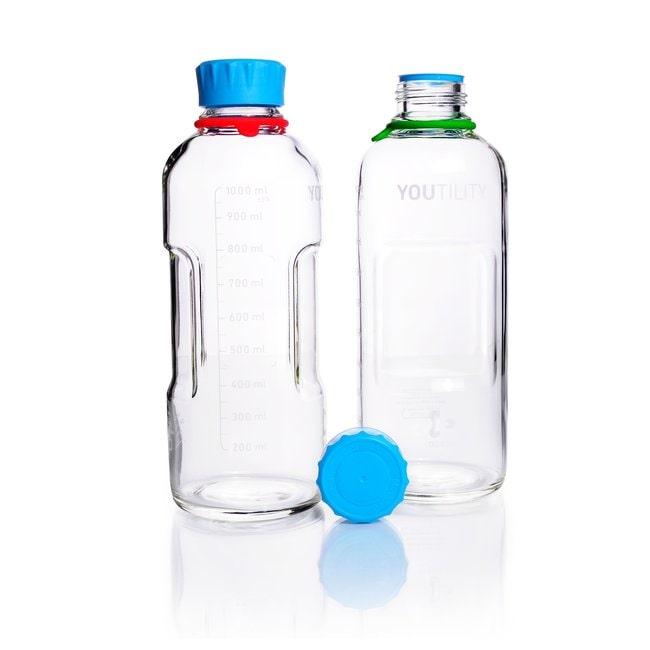DWK Life SciencesDURAN™ YOUTILITY™ Laborflasche, mit DIN 168-1 Gewinde, graduiert, mit Schraubkappe 1000 mL DWK Life SciencesDURAN™ YOUTILITY™ Laborflasche, mit DIN 168-1 Gewinde, graduiert, mit Schraubkappe