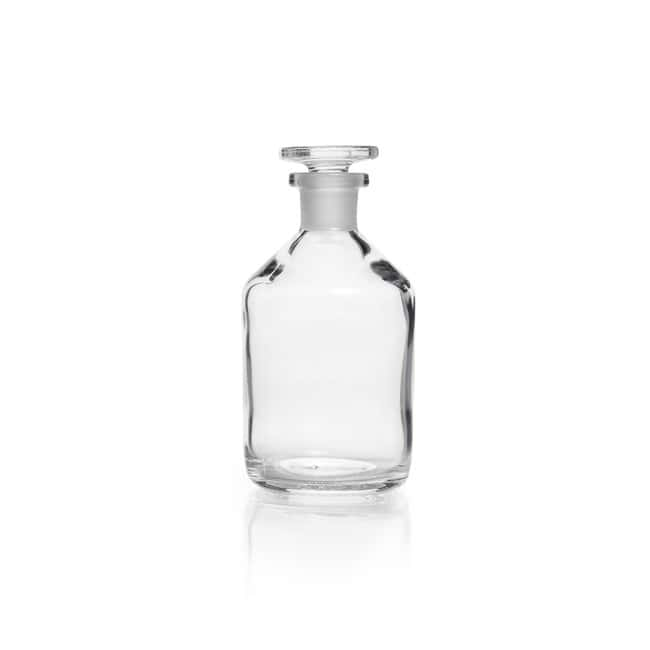 DWK Life Sciences Reagent Bottle, Narrow Neck, Soda-Lime Glass, Clear, Standard Taper Ground Joint Neck 100 mL DWK Life Sciences Reagent Bottle, Narrow Neck, Soda-Lime Glass, Clear, Standard Taper Ground Joint Neck
