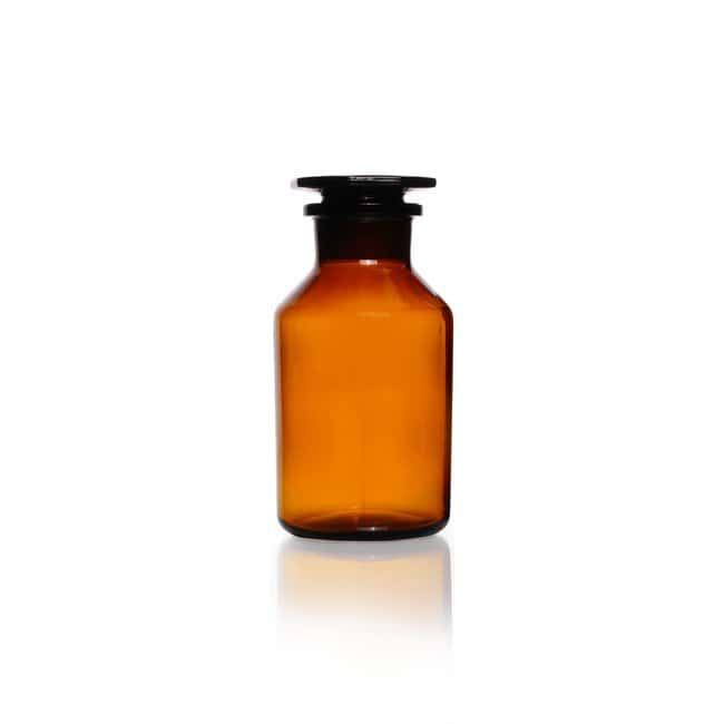 DWK Life SciencesReagent Bottle, Wide Neck, Soda-Lime Glass, Amber, Standard Taper Ground Joint Neck 500 mL DWK Life SciencesReagent Bottle, Wide Neck, Soda-Lime Glass, Amber, Standard Taper Ground Joint Neck